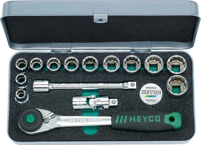 "43-0010-M Socket Set, 3/8"", 15 pcs."