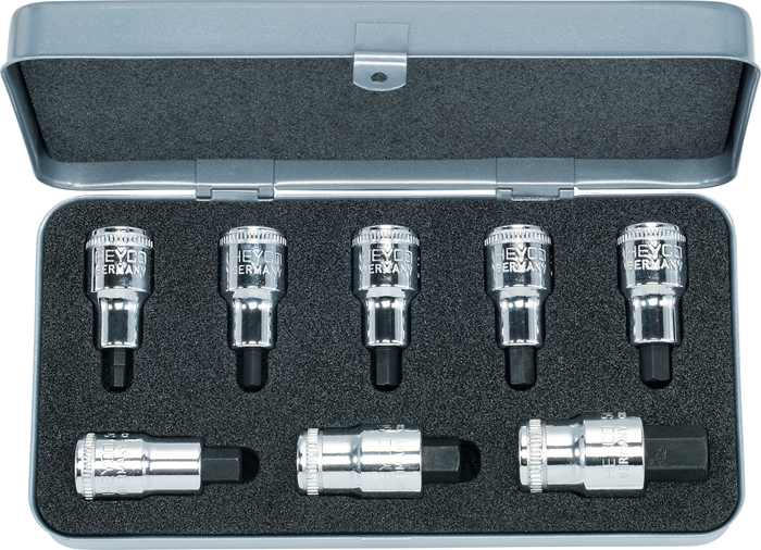 "50-55-2-M Sets with Screwdriver Sockets, 8 pcs., 1/2"""