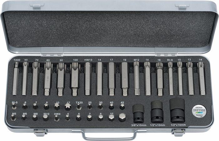 6700 IMPACT-Tool set for operation with compressed air, 45 pcs.