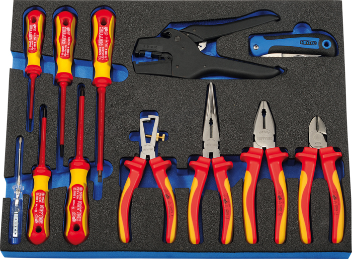 M 50829-18 VDE tool set with 2 components foam insert, 12 pcs.